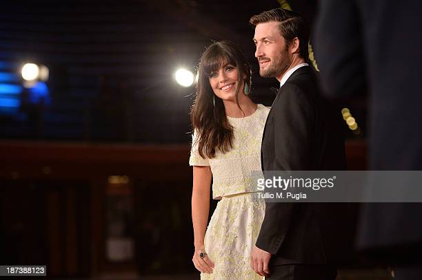 Alessandra Mastronardi and Liam McMahon attend the Opening Ceremony and 'L'Ultima Ruota Del Carro' Premiere during The 8th Rome Film Festival at...