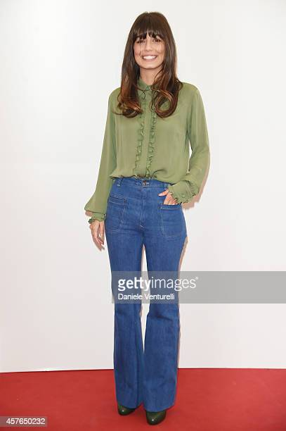 Alessandra Mastronardi attends 'Doppia Difesa' Photocall during the 9th Rome Film Festival at Auditorium Parco Della Musica on October 22 2014 in...