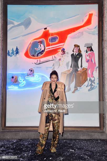 Alessandra Mastronardi attends the Moncler Flagship Store Opening Cocktail on October 19 2017 in Milan Italy