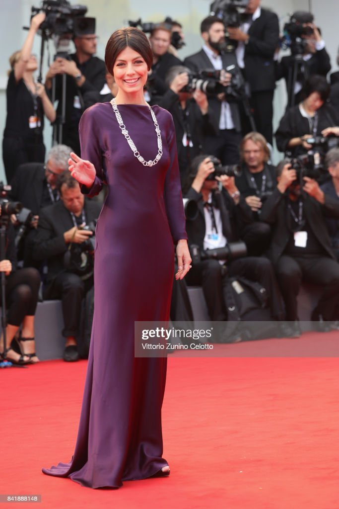Alessandra Mastronardi walks the red carpet ahead of the 'Suburbicon' screening during the 74th Venice Film Festival at Sala Grande on September 2, 2017 in Venice, Italy.