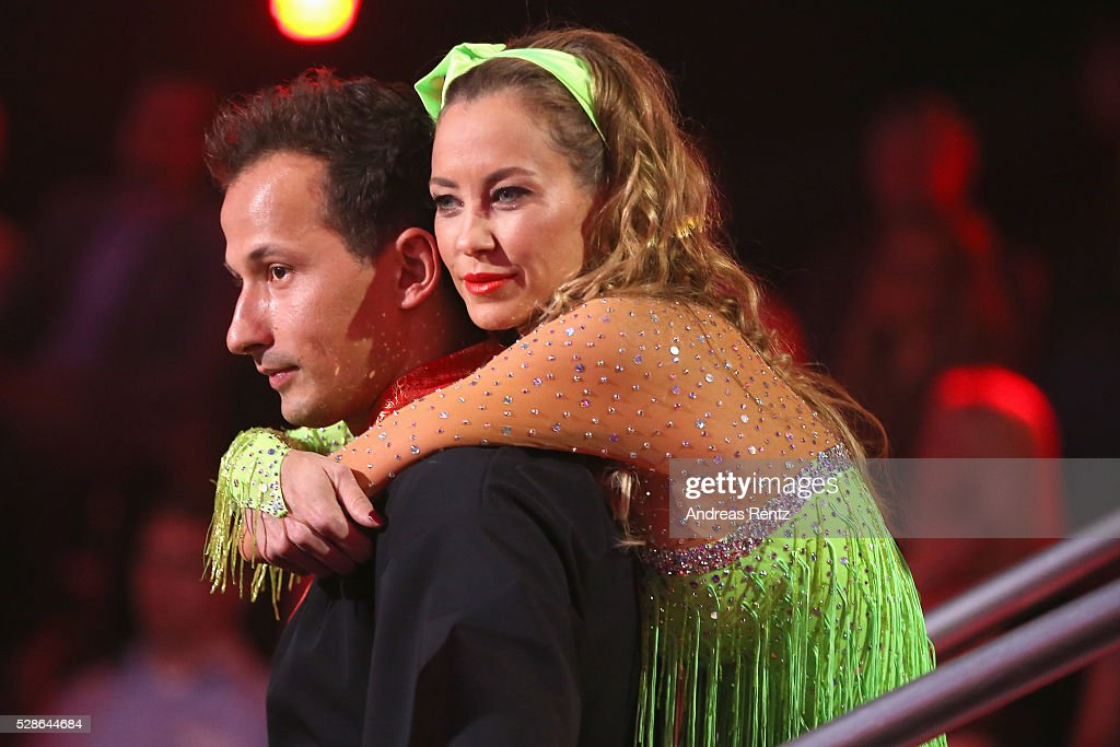 Alessandra Meyer-Woelden and Sergiu Luca seen on stage during the 8th show of the television competition 'Let's Dance' on May 6, 2016 in Cologne, Germany.