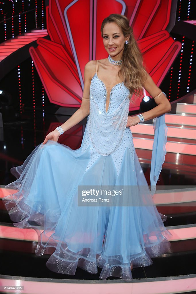 Alessandra MeyerWoelden attends the 1st show of the television competition 'Let's Dance' on March 11 2016 in Cologne Germany