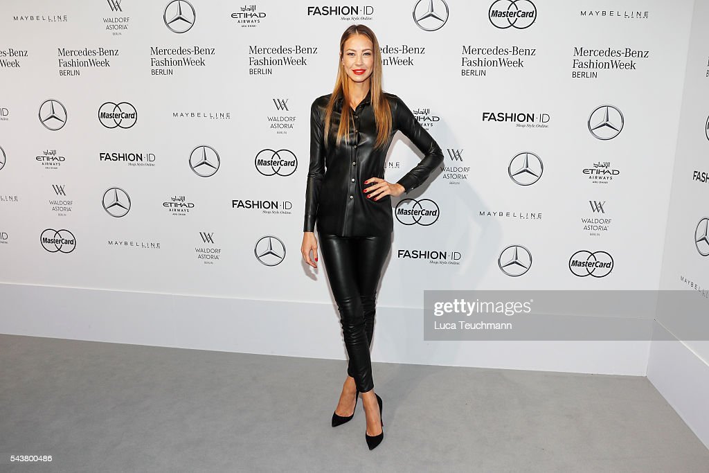 Alessandra Meyer-Woelden attends the Dimitri show during the Mercedes-Benz Fashion Week Berlin Spring/Summer 2017 at Erika Hess Eisstadion on June 30, 2016 in Berlin, Germany.