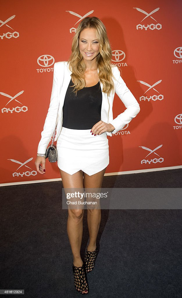 Alessandra MeyerWoelden attends the 'Go Fun Yourself ' Toyota AYGO PreLaunch Event at the Pearl Club on July 2 2014 in Berlin Germany
