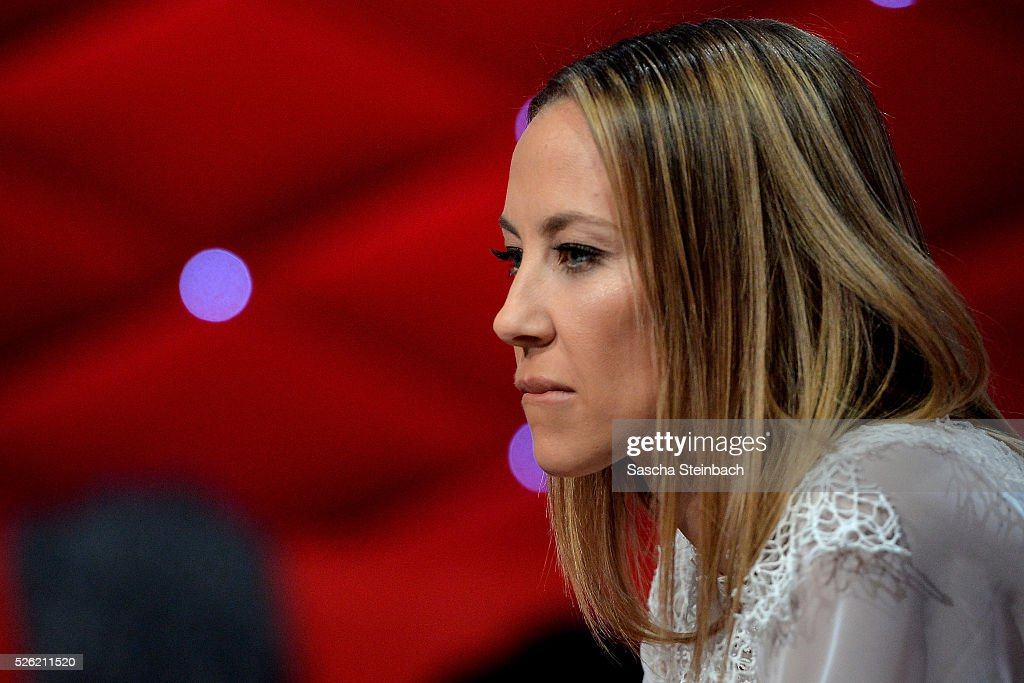 Alessandra MeyerWoelden looks on during the 7th show of the television competition 'Let's Dance' at Coloneum on April 29 2016 in Cologne Germany