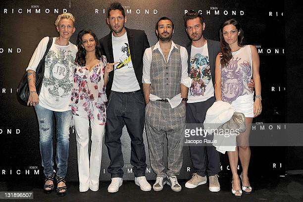 Alessandra Moschillo and Marco Materazzi attend the John Richmond fashion show as part of Milan Fashion Week Menswear Spring/Summer 2012 on June 20...