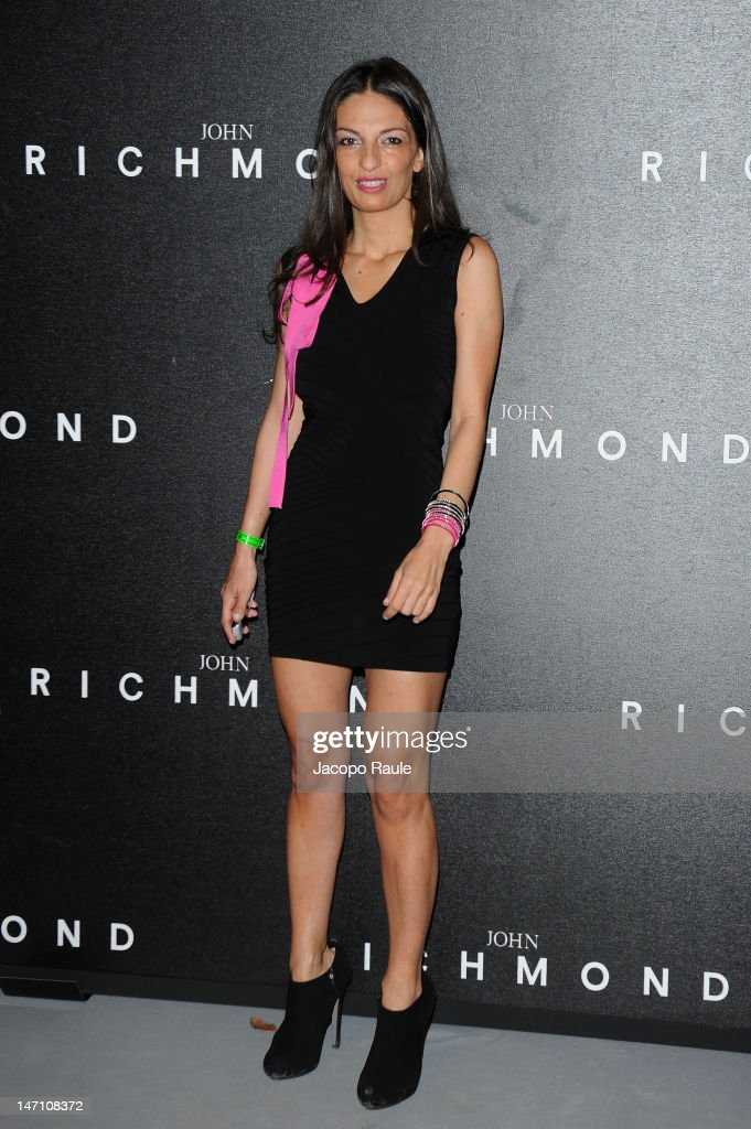 Alessandra Moschillo arrives at the John Richmond show as part of Milan Fashion Week Menswear Spring/Summer 2013 on June 25, 2012 in Milan, Italy.