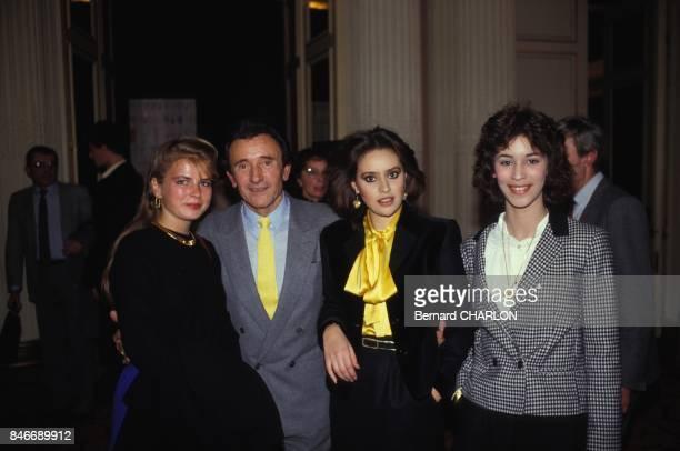Alessandra Mussolini mannequin pour Guy Laroche avec Sophie Suarez d'Aulan et Sophie Renoir dans la capitale francaise en janvier 1983 a Paris France