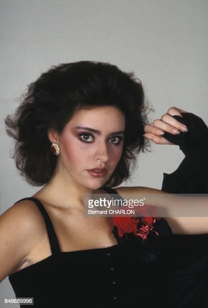 Alessandra Mussolini mannequin pour Guy Laroche dans la capitale francaise en janvier 1983 a Paris France