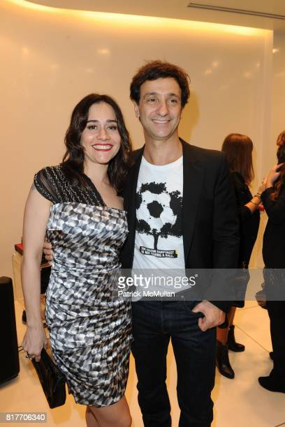 Alessandra Negrini and Carlos Miele attend Carlos Miele and Vogue Italia Celebrate Limited Edition of TShirts Designed by Lapo Elkann and Bianca...