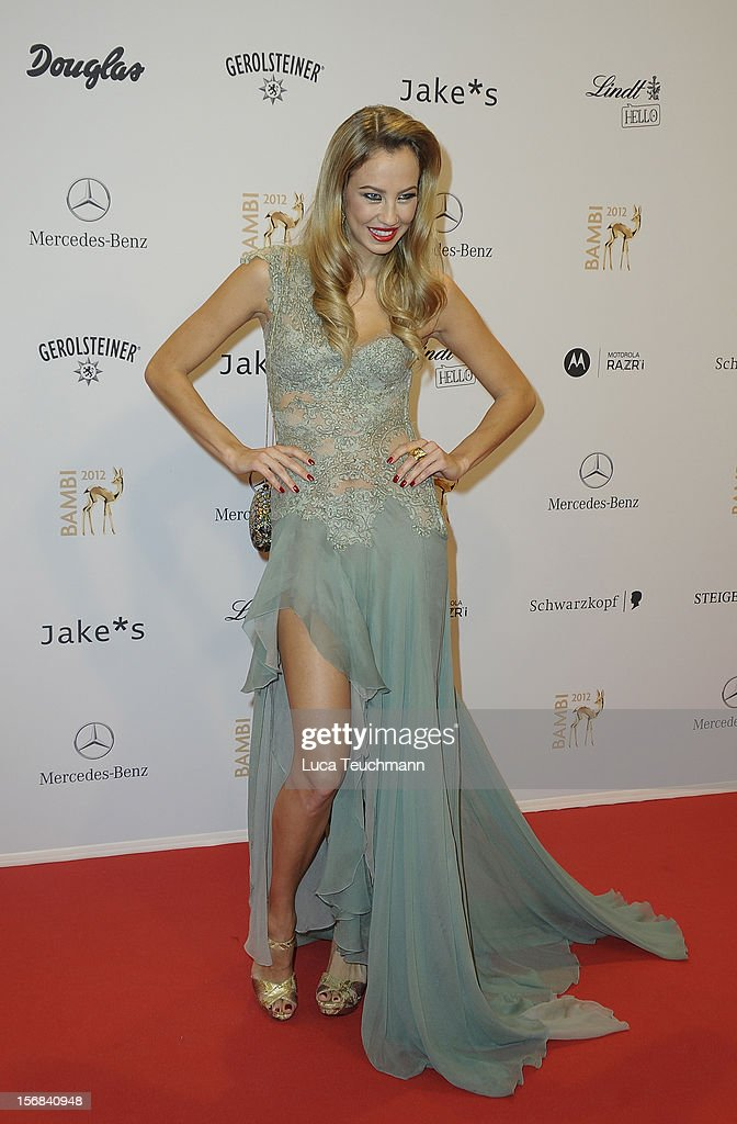 Alessandra Pocher attends 'BAMBI Awards 2012' at the Stadthalle Duesseldorf on November 22, 2012 in Duesseldorf, Germany.