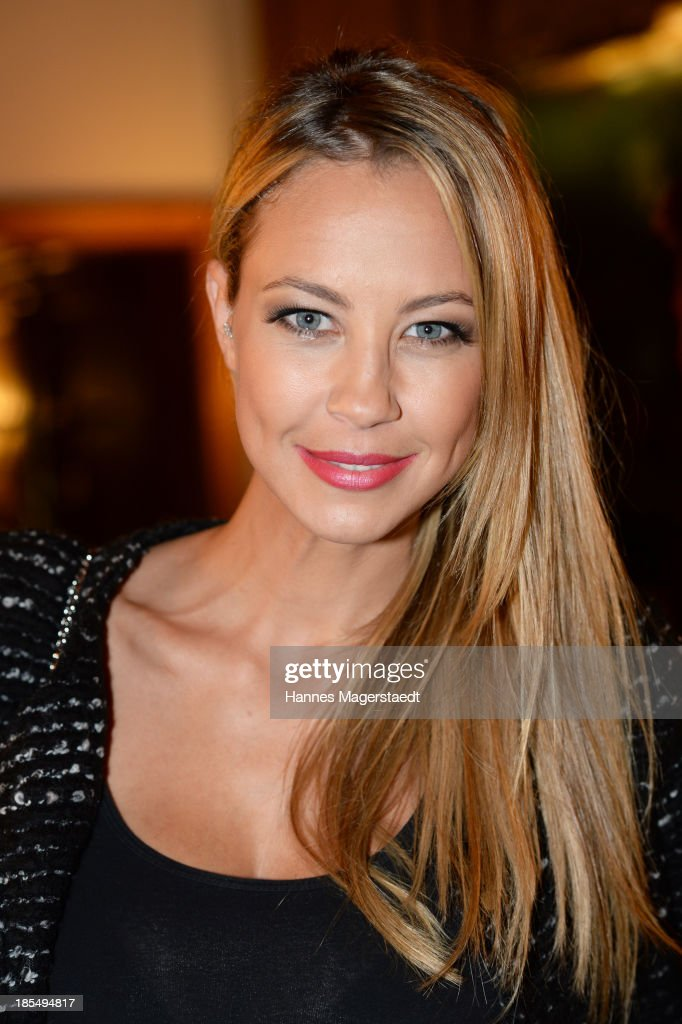 Alessandra Pocher attends the presentation of Manfred Baumann New Calendar 2014 at the King's Hotel Center on October 21 2013 in Munich Germany
