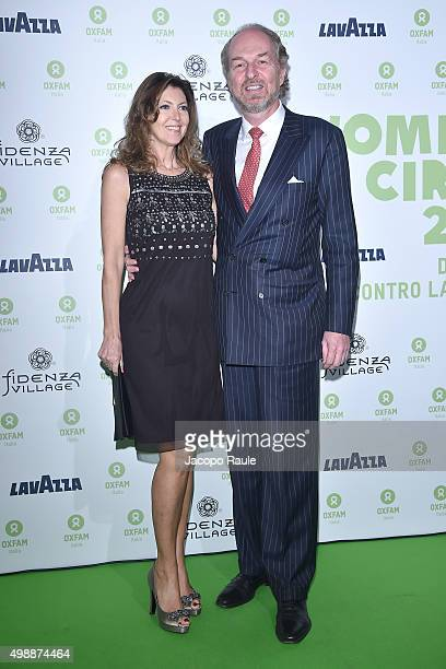 Alessandra Repini and Arturo Artom attend a photocall for Women's Circle 2015 OXFAM Charity Benefit on November 26 2015 in Milan Italy