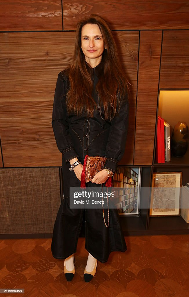 Alessandra Rich attends the BFC Fashion Trust x Farfetch cocktail reception on April 28, 2016 in London, England.