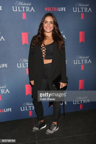 Alessandra Rojo de la Vega attends the launch of beer fitness Michelob Ultra at Reebok CrossFit on July 27 2017 in Mexico City Mexico