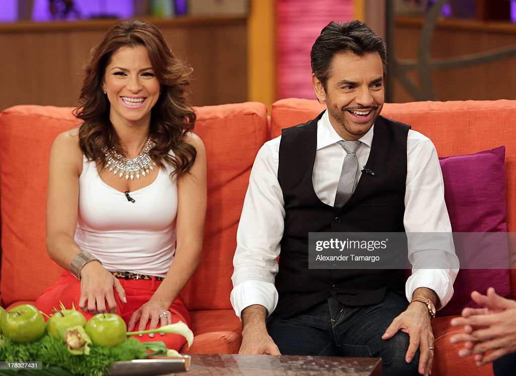 Alessandra Rosaldo and Eugenio Derbez make an appearance to promote the film 'Instructions Not Included' on Despierta America at Univision...