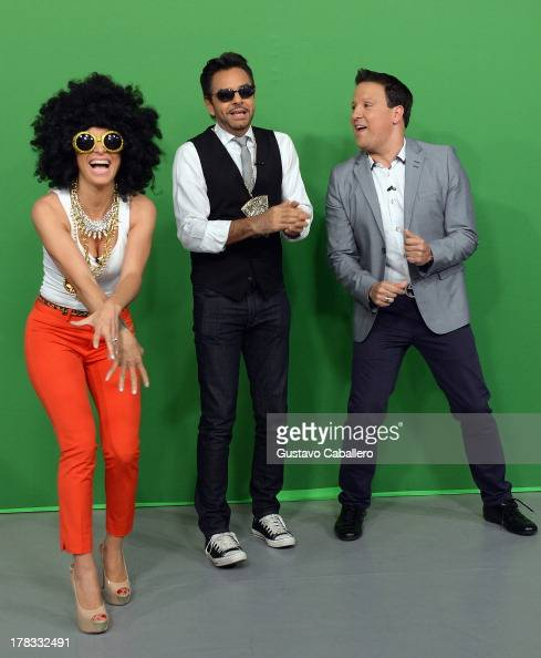 Alessandra Rosaldo Eugenio Derbez and Raul Gonzalez make an appearance to promote the film 'Instructions Not Included' on Despierta America at...