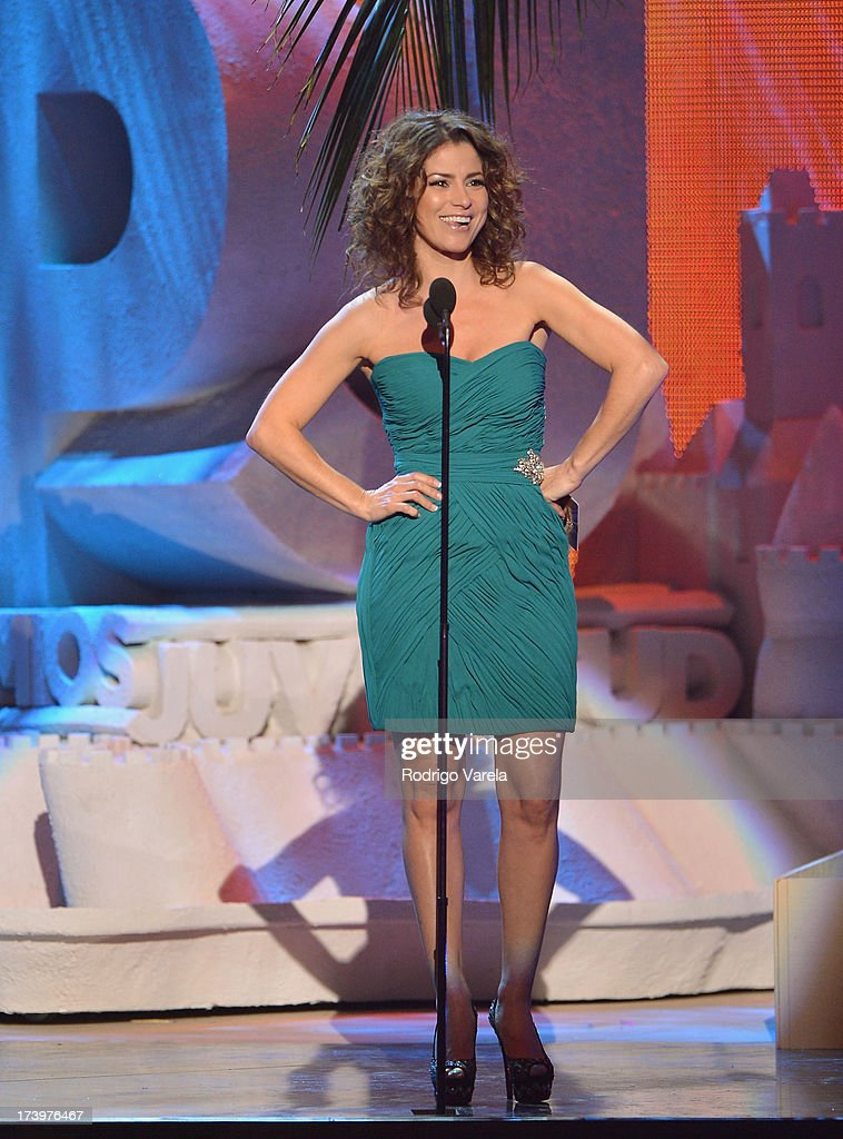 Alessandra Rosaldo speaks onstage during the Premios Juventud 2013 at Bank United Center on July 18, 2013 in Miami, Florida.