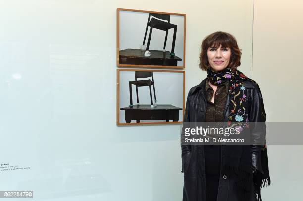 Alessandra Spranzi attends Floating Cube MolteniC event on October 16 2017 in Giussano Italy