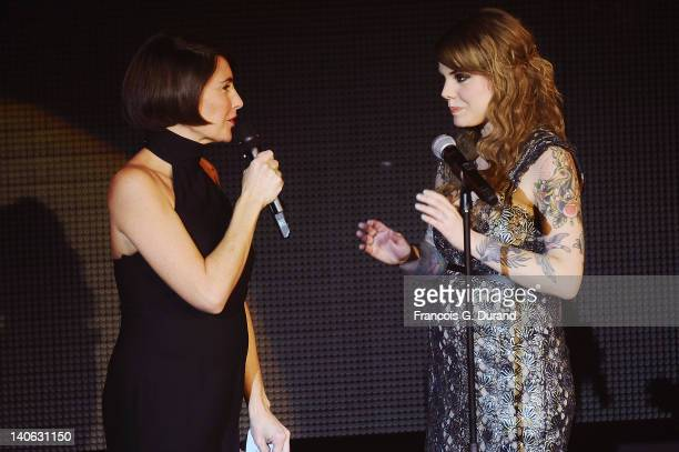 Alessandra Sublet and Beatrice Martin from 'Coeur de Pirate' attend 'Les Victoires de La Musique 2012' at Palais des Congres on March 3 2012 in Paris...