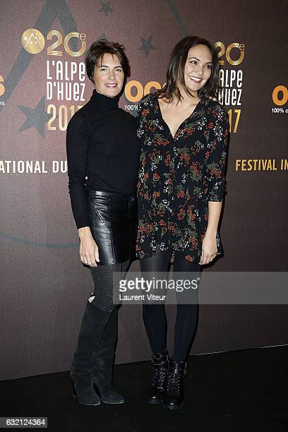 Alessandra Sublet and Valerie Begue attend 'Sous le Meme Toit' Photocall during tne 20th L'Alpe D'Huez International Film Festival on January 19 2017...