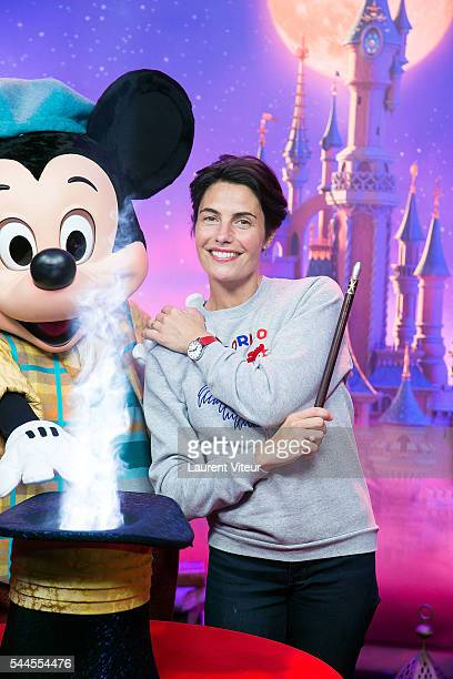 Alessandra Sublet attends the new show of Disneyland Paris 'Mickey et le Magicien' at Disneyland Paris on July 2 2016 in Paris France