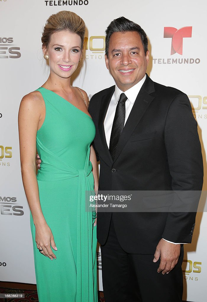 Alessandra Villegas and Daniel Sarcos attend Telemundo's Todos Somos Heroes Gala on May 7, 2013 in Miami, Florida.
