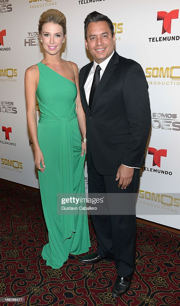 Alessandra Villegas and Daniel Sarcos attends the Telemundo's Todos Somos Heroes Gala on May 7, 2013 in Miami, United States.