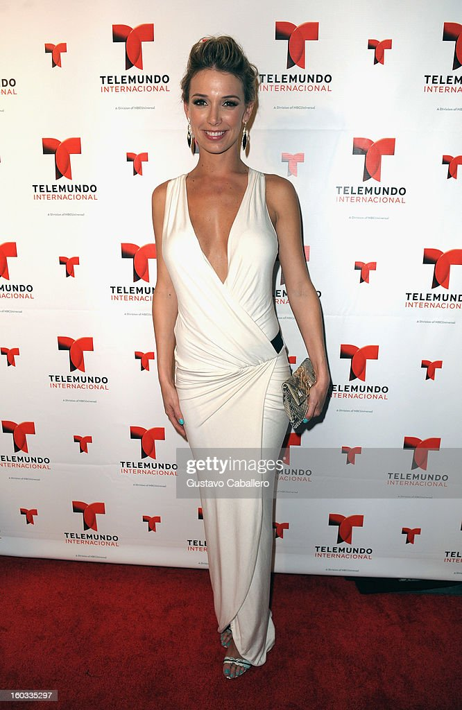 Alessandra Villegas attends Telemundo International NATPE VIP Party at Bamboo Miami on January 28, 2013 in Miami, Florida.