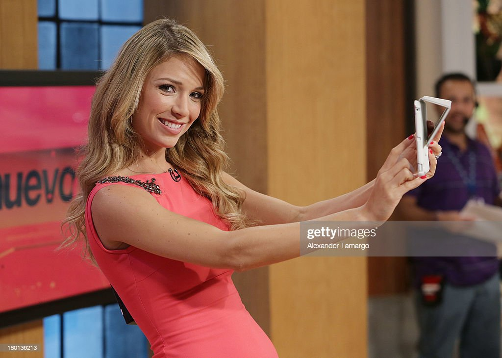 Alessandra Villegas is seen on the set of Telemundo's 'Un Nuevo Dia' at Telemundo Studio on September 9, 2013 in Miami, Florida.
