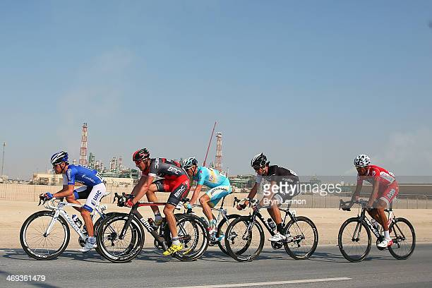 Alessandro Bazzana of Unitedhealthcare Marcus Burghardt of the BMC Racing Team Lieuwe Westra of Astana Pro Team Jesse Sergent of the Trek Factory...