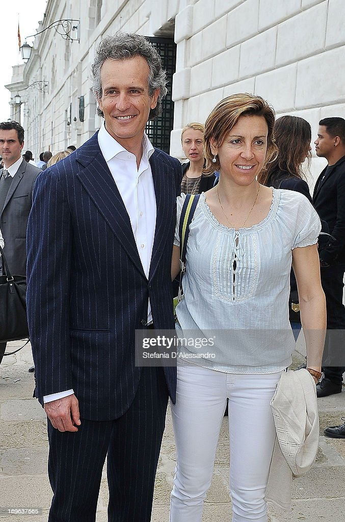 Alessandro Benettoni and Deborah Compagnoni attend Prima Materia VIP Preview on May 29, 2013 in Venice, Italy.