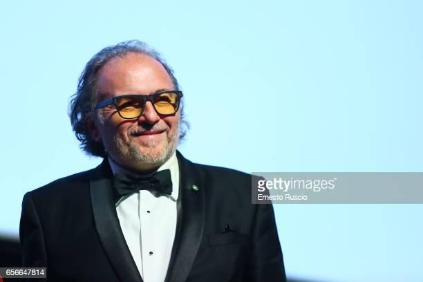 Alessandro Bertolazzi recives the Nastro D'Argento 70th at Auditorium Parco Della Musica on March 22 2017 in Rome Italy