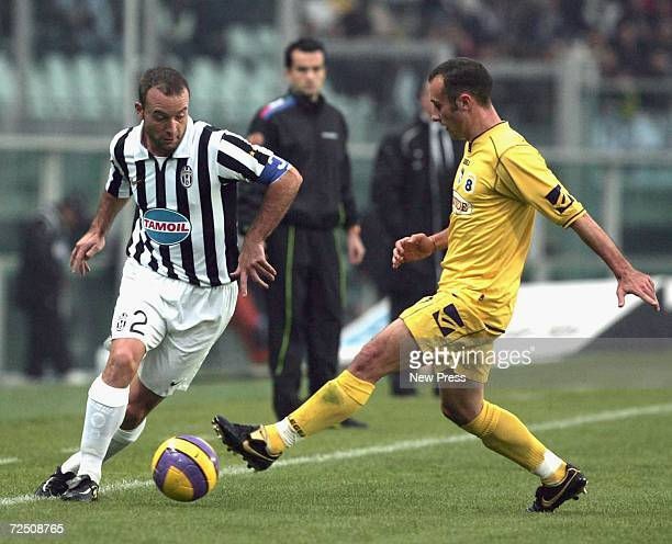 Alessandro Birindelli of Juventus in action during the Serie B match between Juventus and Pescara at the Delle Alpi Stadium on November 11 2006 in...