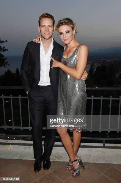 Alessandro Borghi and Jasmine Trinca attend Nastri D'Argento 2017 Awards Ceremony on July 1 2017 in Taormina Italy