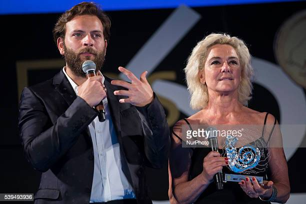 Alessandro Borghi and Monica Guerritore attends 62 Taormina Film Fest Opening on June 10 2016 in Taormina Italy