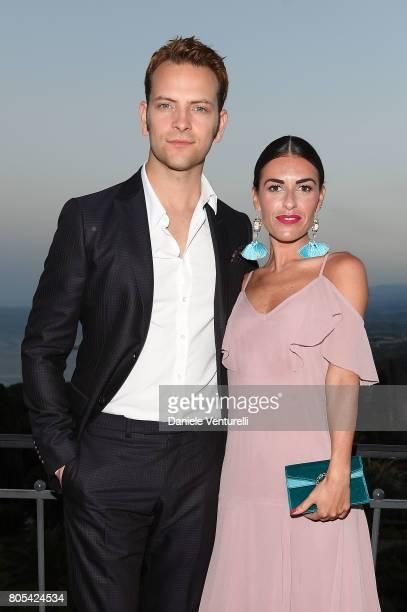 Alessandro Borghi and Roberta Pitrone attend Nastri D'Argento 2017 Awards Ceremony on July 1 2017 in Taormina Italy