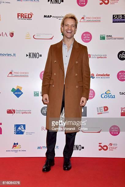 Alessandro Borghi attends 'Il Piu' Grande Sogno' premiere during the 11th Rome Film Festival on October 21 2016 in Rome Italy
