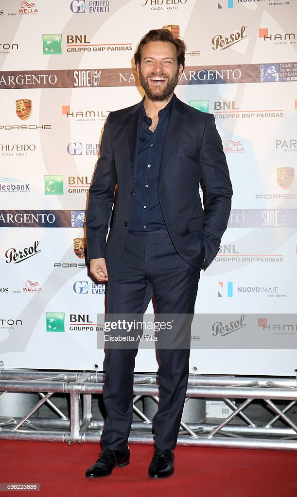 Alessandro Borghi attends Nastri D'Argento 2016 Award Nominations at Maxxi on May 31, 2016 in Rome, Italy.