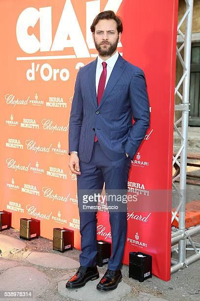 Alessandro Borghi attends the Ciak D'Oro 2016 awards at Cinecitta on June 8 2016 in Rome Italy