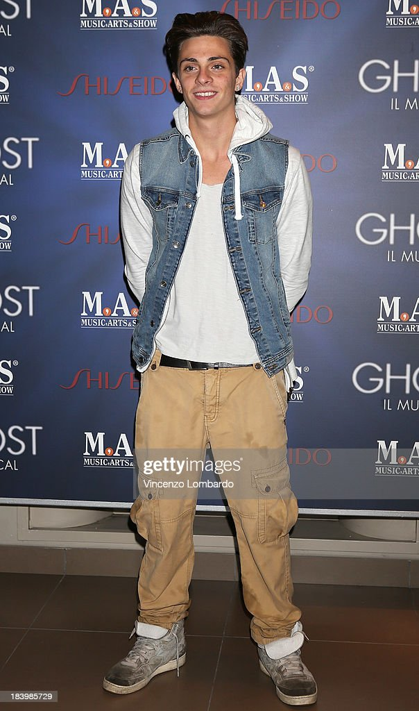 Alessandro Casillo attends the opening night of 'Ghost - The Musical' at the Teatro Nazionale on October 10, 2013 in Milan, Italy.