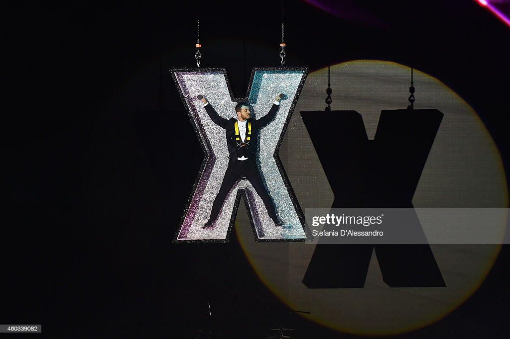 Alessandro Cattelan appear on X Factor Italia Tv Show on December 11 2014 in Milan Italy
