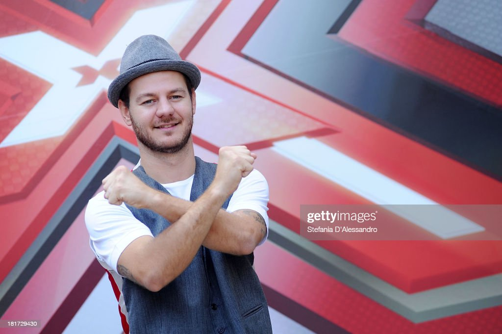 Alessandro Cattelan attends X Factor 2013 Photocall at La Fonderia Napoleonica on September 24, 2013 in Milan, Italy.