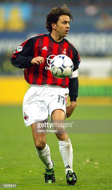 Alessandro Costacurta of AC Milan in action during the Serie A match between Inter Milan and AC Milan played at the 'Giuseppe Meazza' San Siro...
