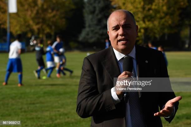 Alessandro D Este attends during the Italian Football Federation Unveils New Regional Federal Training Center In Alba at Auditorium Fondazione...
