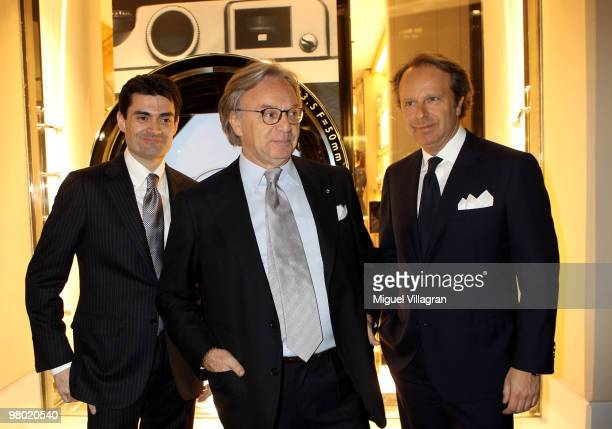 Alessandro de Medici Tod's president Diego Della Valle and Tod's vice president Andrea Della Valle attend the reopening of the Tod's store on March...