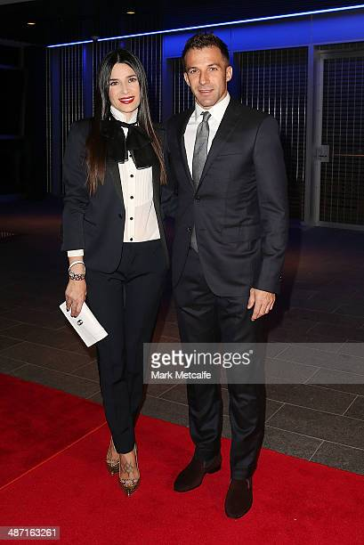 Alessandro Del Piero and Sonia Amoruso arrive at the FFA ALeague WLeague Awards Night at Royal Randwick Racecourse on April 28 2014 in Sydney...