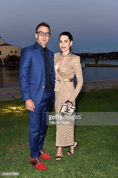 Alessandro Del Piero and Sonia Amoruso attend the Gala Dinner during The Costa Smeralda Invitational golf tournament at Pevero Golf Club Costa...