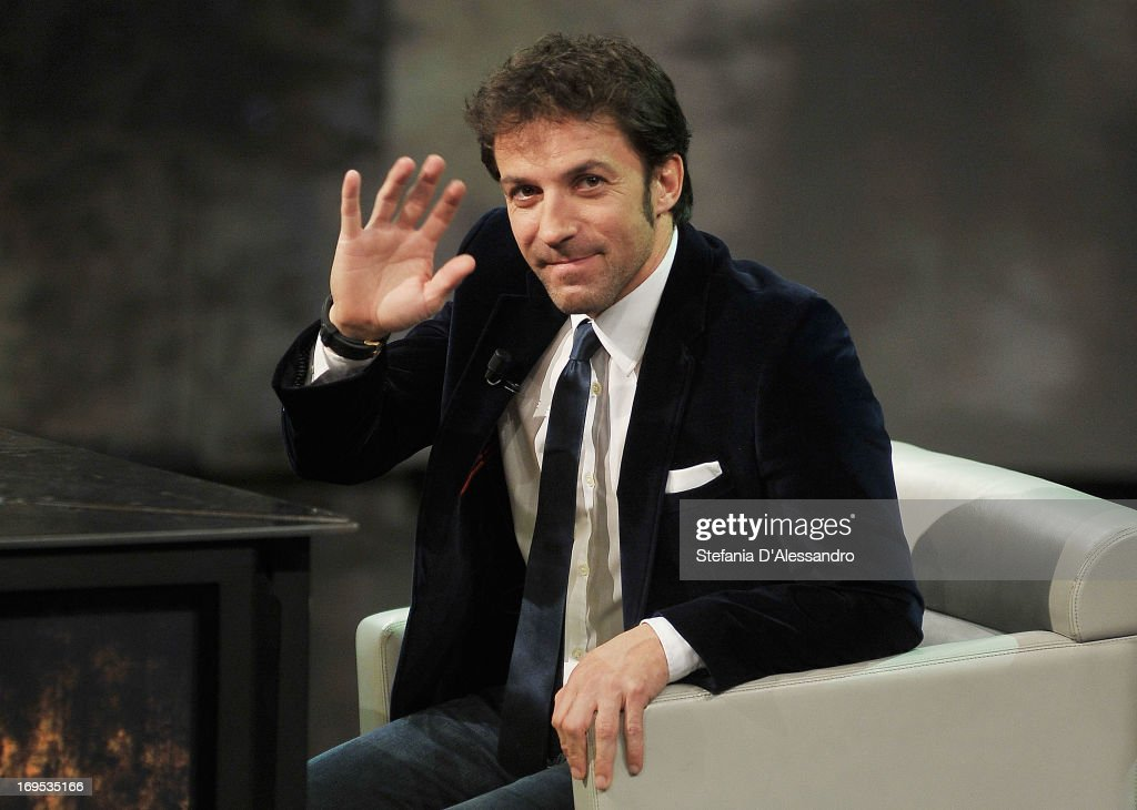Alessandro Del Piero attends 'Che Tempo Che Fa' Italian Tv Show on May 26 2013 in Milan Italy
