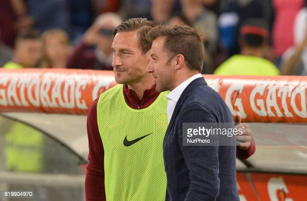 Alessandro Del Piero Francesco Totti during the Italian Serie A football match between AS Roma and FC Juventus at the Olympic Stadium in Rome on may...